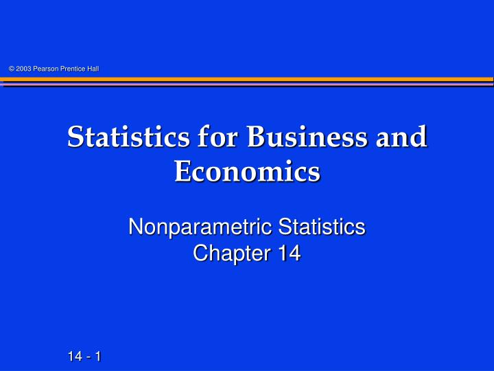 statistics for business and economics n.
