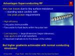 advantages superconducting rf