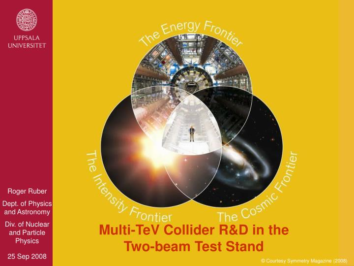 multi tev collider r d in the two beam test stand n.