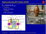 superconducting rf cavities scrf