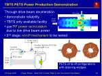 tbts pets power production demonstration