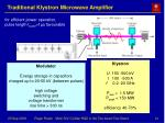 traditional klystron microwave amplifier