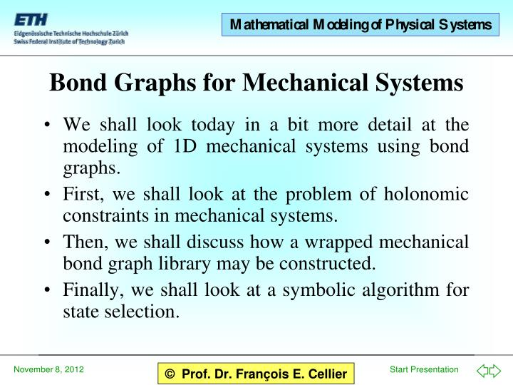 bond graphs for mechanical systems n.