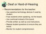 deaf or hard of hearing