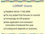 lgrmif grants