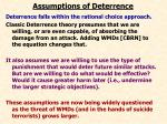 assumptions of deterrence