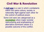 civil war revolution