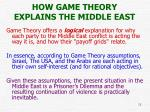 how game theory explains the middle east