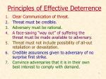 principles of effective deterrence
