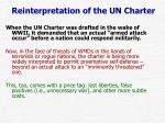 reinterpretation of the un charter