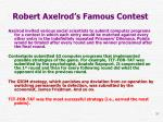 robert axelrod s famous contest