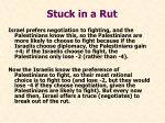 stuck in a rut