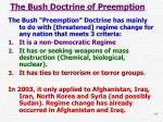 the bush doctrine of preemption