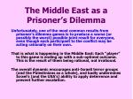 the middle east as a prisoner s dilemma