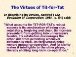 the virtues of tit for tat