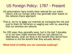 us foreign policy 1787 present