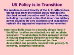 us policy is in transition