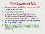 why deterrence fails