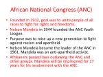 african national congress anc