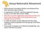 kenya nationalist movement