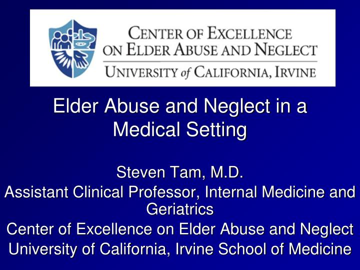 elder abuse and neglect in a medical setting n.