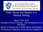 elder abuse and neglect in a medical setting