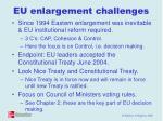 eu enlargement challenges