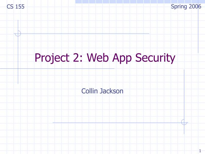 project 2 web app security n.