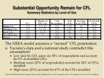 substantial opportunity remain for cfl summary statistics by level of use