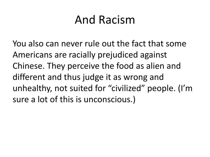 And Racism