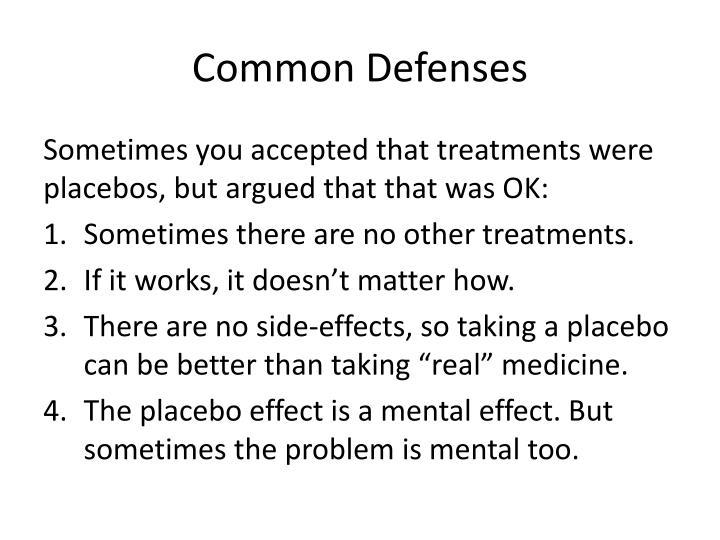Common Defenses