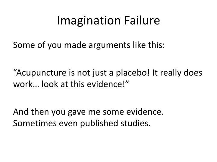 Imagination failure