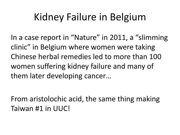 Kidney Failure in Belgium