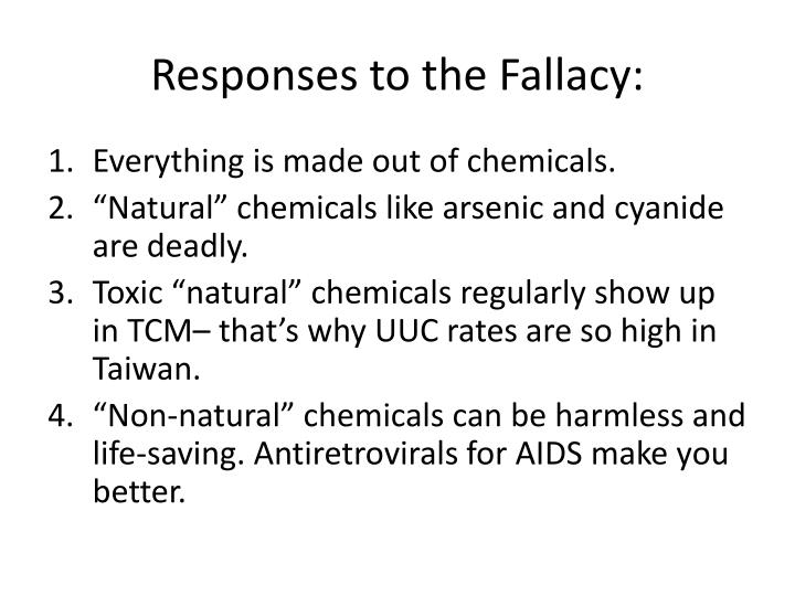Responses to the Fallacy: