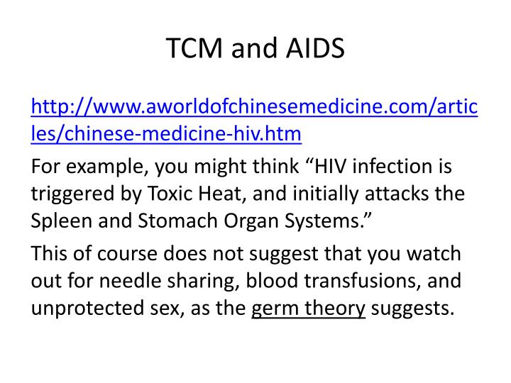 TCM and AIDS