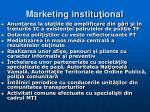 marketing institu ional