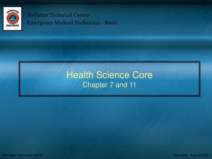health science core chapter 7 and 11 n.