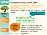 classroom sweep autumn 20073