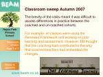 classroom sweep autumn 20075