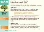 interview april 2007