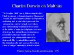 charles darwin on malthus