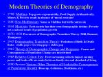 modern theories of demography