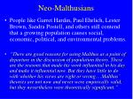 neo malthusians