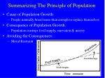 summarizing the principle of population