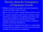 theories about the consquences of population growth