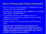 theory of demographic change and response
