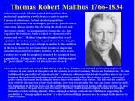 thomas robert malthus 1766 1834