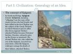part i civilization genealogy of an idea1