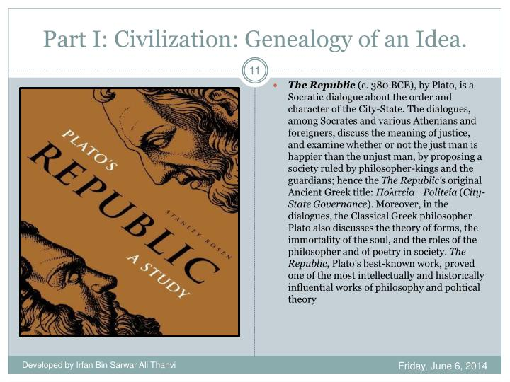 Part I: Civilization: Genealogy of an Idea.