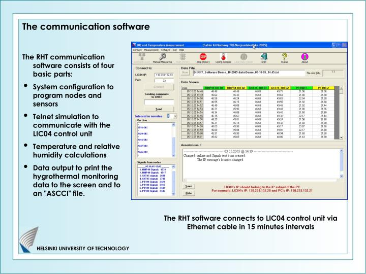 The communication software